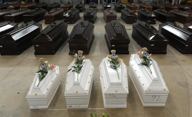 funerali migranti morti